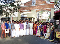 Perpetual Indian students celebrating Pongal festival